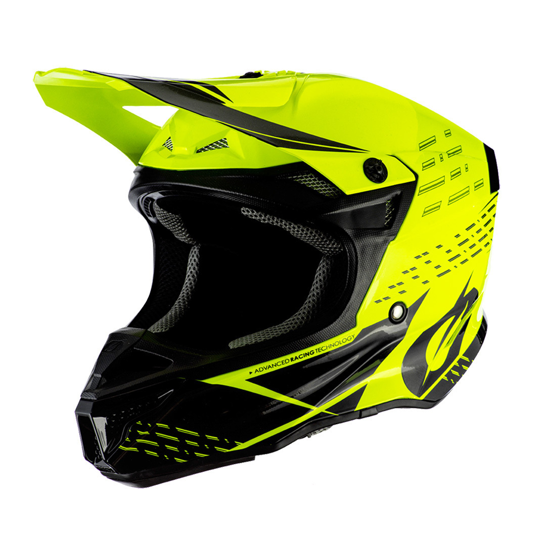 Oneal 5Series Polyacrylite Trace Motocross Helm, schwarz-gelb, Größe XL, schwarz-gelb, Größe XL
