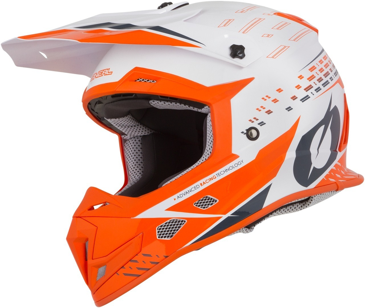 Oneal 5Series Trace Motocross Helm, weiss-orange, Größe M, weiss-orange, Größe M