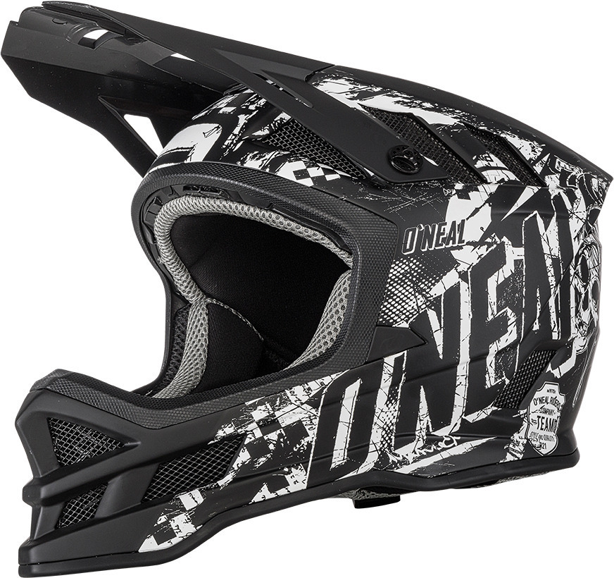 Oneal Blade Rider Charger Downhill Helm, schwarz-weiss, Größe L, schwarz-weiss, Größe L