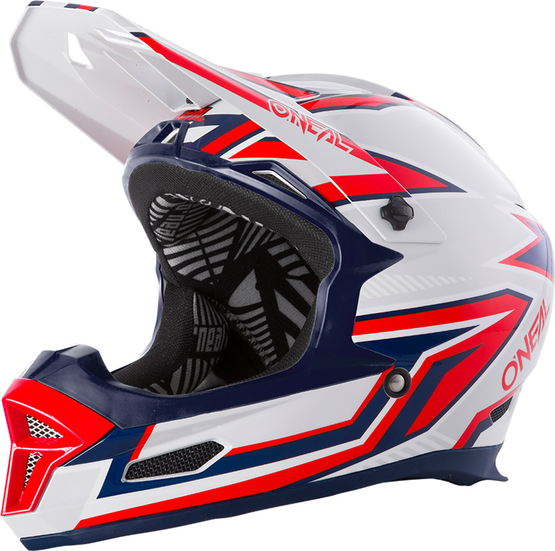 Oneal Fury Rapid Downhill Helm, rot-silber, Größe M, rot-silber, Größe M