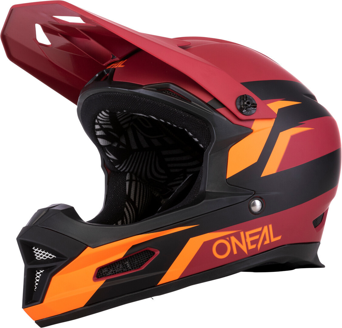 Oneal Fury Stage Downhill Helm, rot-orange, Größe XS, rot-orange, Größe XS