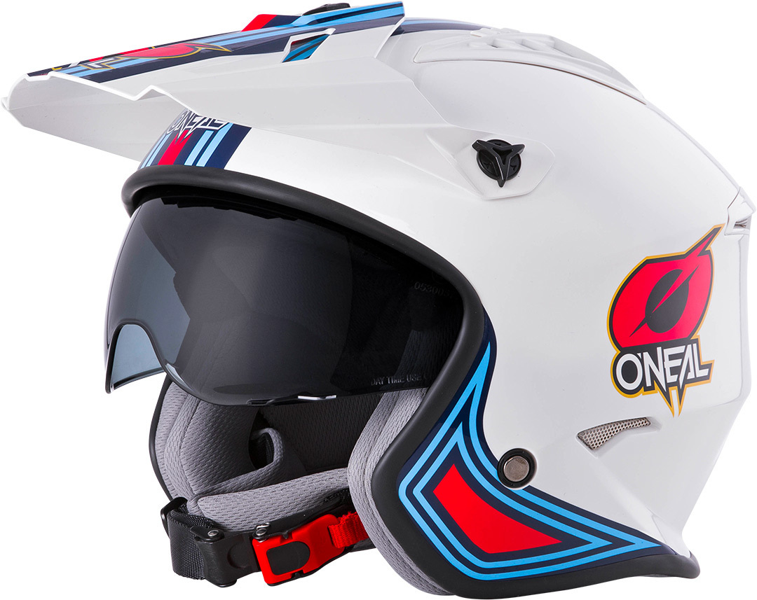 Oneal Volt MN1 Trial Helm, weiss-rot-blau, Größe M, weiss-rot-blau, Größe M