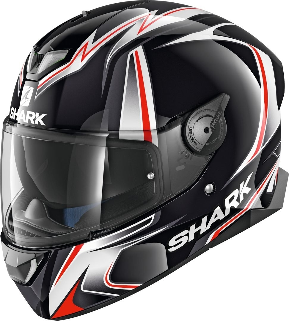 Shark Skwal 2 Replica Sykes Weiße LED Helm, schwarz-weiss-rot, Größe XS, schwarz-weiss-rot, Größe XS