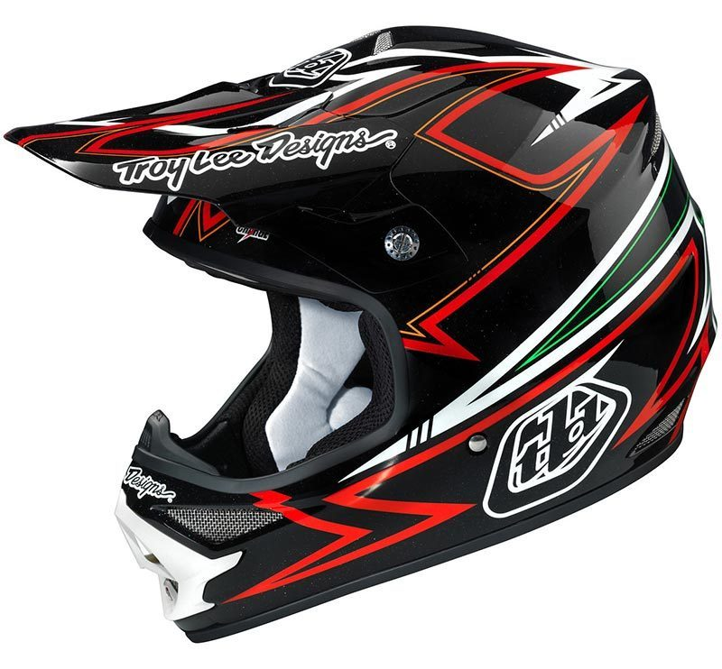 Troy Lee Designs Charge Schwarz/Rot Motocross Helm, schwarz-rot, Größe S, schwarz-rot, Größe S